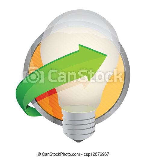 light bulb button illustration - csp12876967