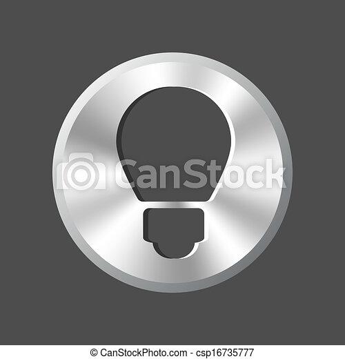 Light bulb button - csp16735777