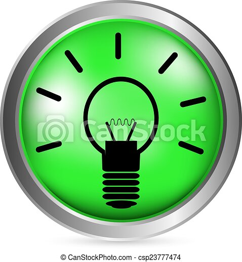 Light bulb button - csp23777474