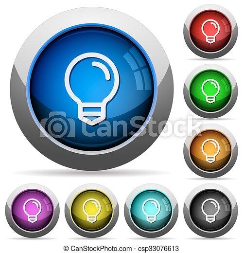 Light bulb button set - csp33076613