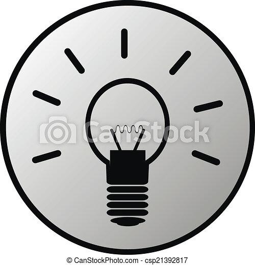 Light bulb button - csp21392817