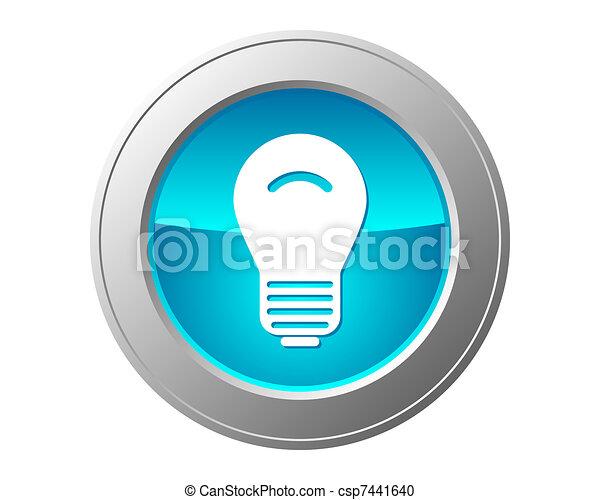Light bulb button - csp7441640