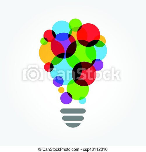 Light bulb colorful concept, Creative idea - csp48112810