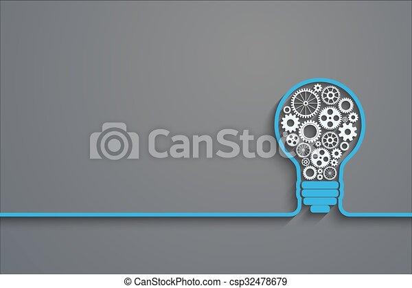 light bulb concept - csp32478679