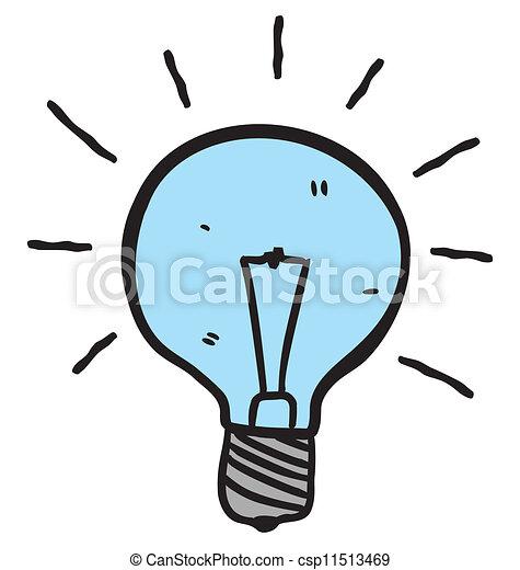 light bulb doodle - csp11513469
