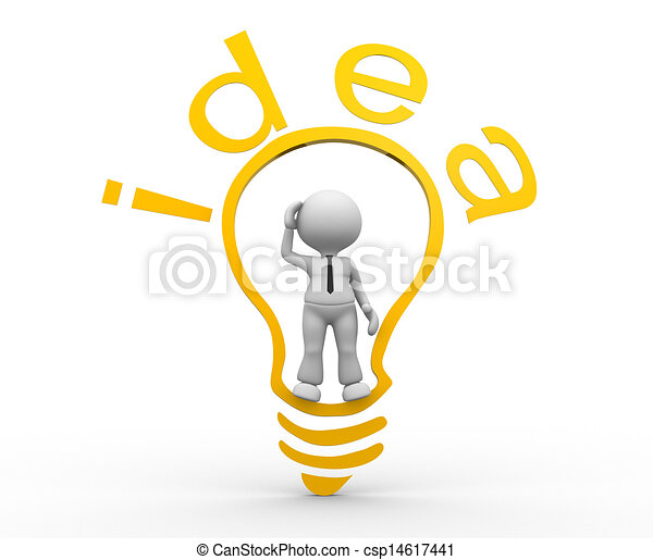 Light Bulb 3d People