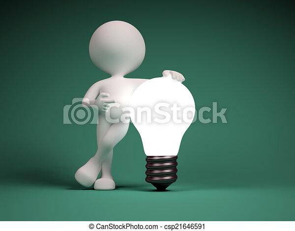 Light bulb - csp21646591
