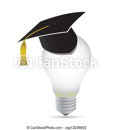 light bulb education graduation concept - csp13236653