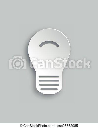 Light bulb - csp25852085