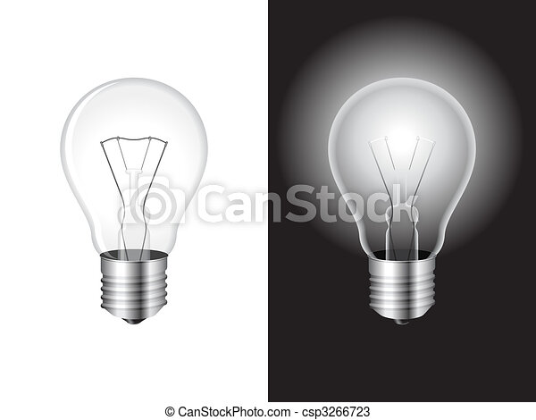 Light bulb. - csp3266723