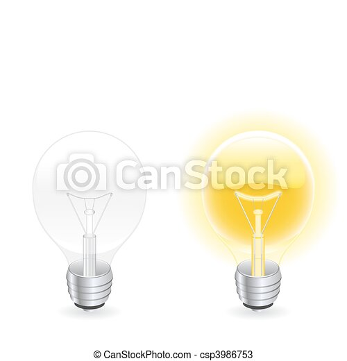 Light bulb  - csp3986753