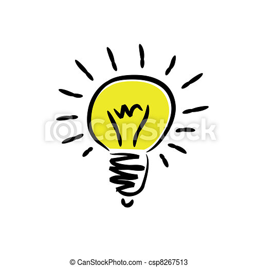 Delightful Light Bulb   Csp8267513