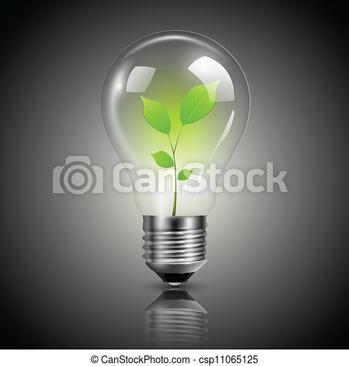Light bulb green - csp11065125