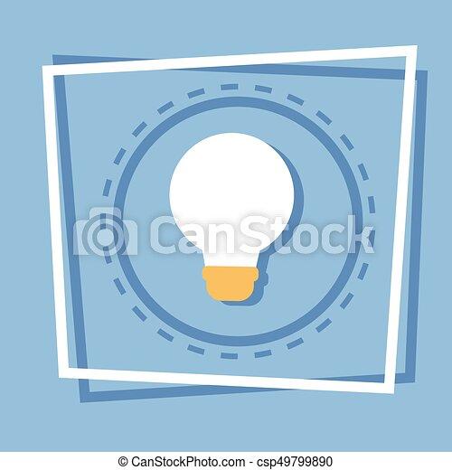 Light Bulb Icon New Idea Web Button - csp49799890