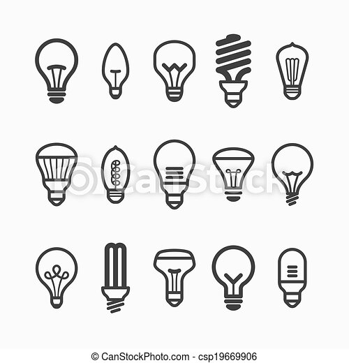 Light bulb icons - csp19669906