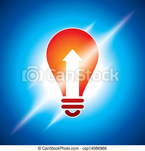 light bulb idea - csp14086966