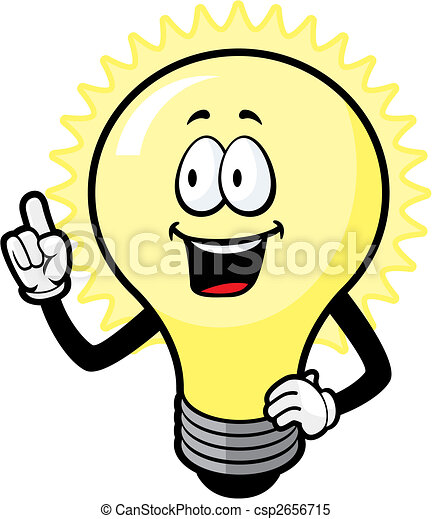 light bulb idea a cartoon light bulb with an idea clipart vector rh canstockphoto com light clip art black and white night clip art