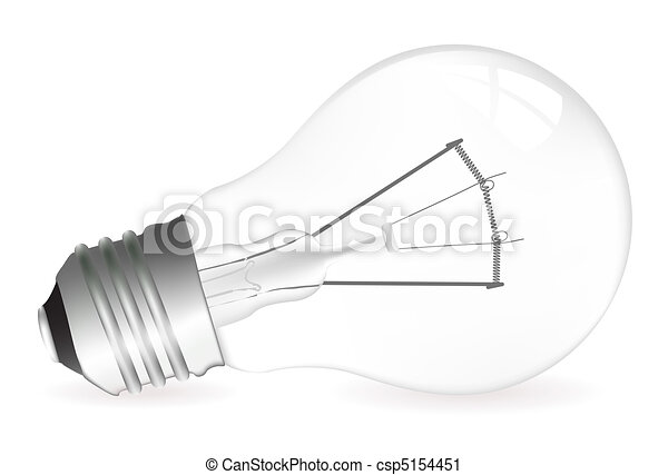 Light bulb illustration - csp5154451
