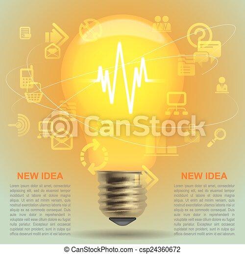 Light bulb - csp24360672