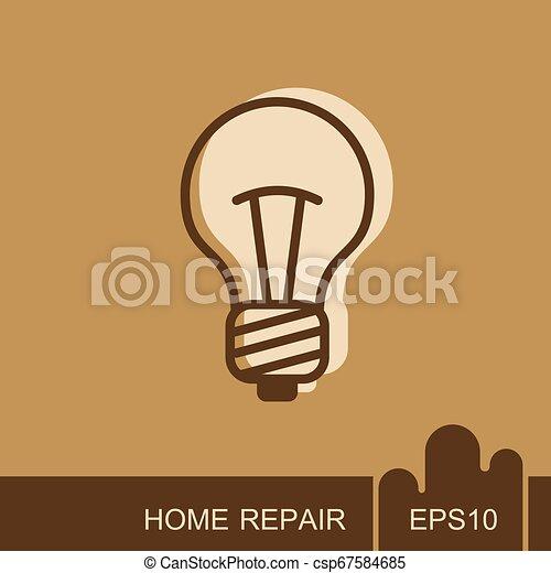 Light Bulb line icon vector. Idea sign, solution - csp67584685