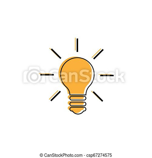 Light Bulb line icon vector. Idea sign, solution, thinking concept. Lighting Electric lamp. Electricity, shine - csp67274575