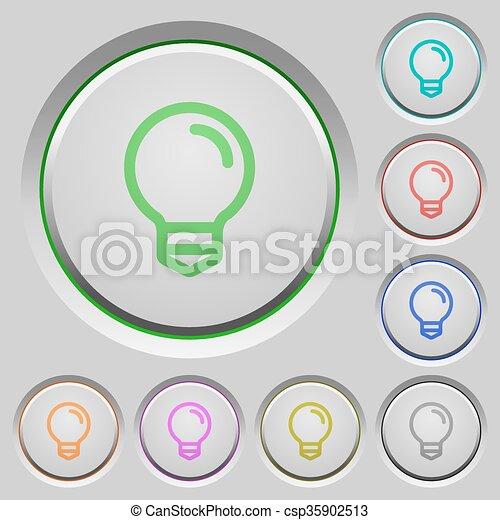 Light bulb push buttons - csp35902513