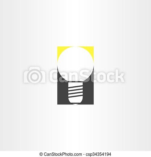 light bulb sign vector idea icon - csp34354194
