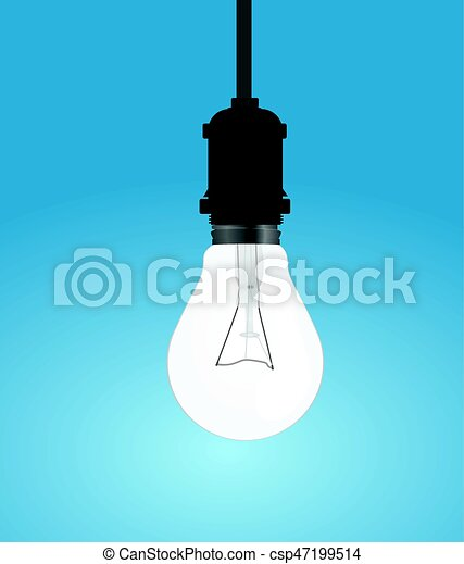 Light bulb hanging from ceiling light bulb csp47199514 aloadofball Gallery