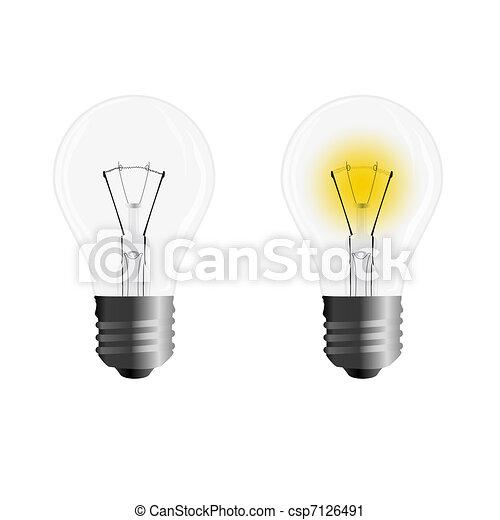 Light bulb - csp7126491