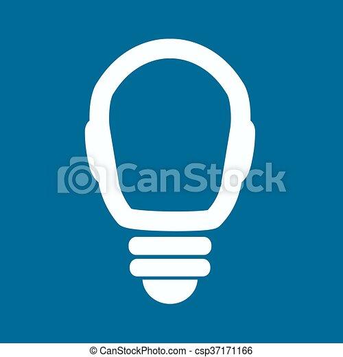 Light bulb vector icon - csp37171166