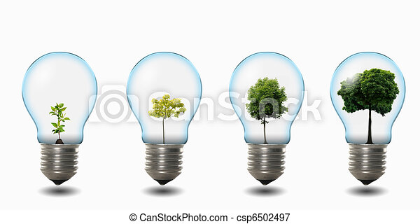 light bulb with nature - csp6502497
