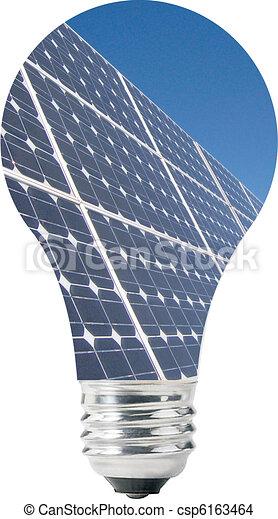 Light bulb with solar panels - csp6163464