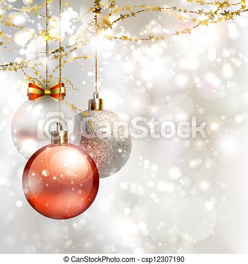 light Christmas background  - csp12307190