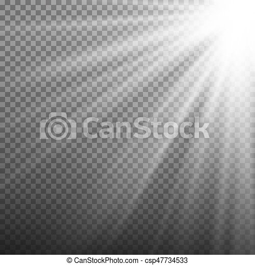 Light Effect Vector  Rays Burst Light  Isolated On Transparent Background   Vector Illustration