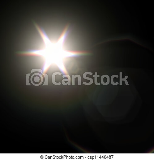 Light flare special effect. vector illustration. - csp11440487