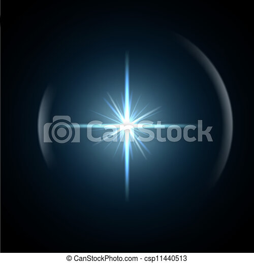 Light flare special effect. vector illustration. - csp11440513