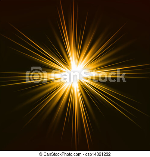Light flare yellow effect. Vector - csp14321232