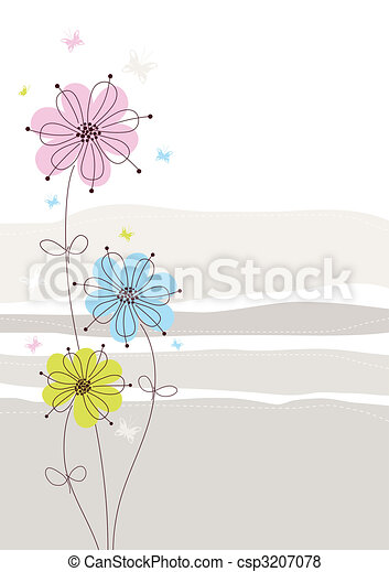 Light Floral Background - csp3207078