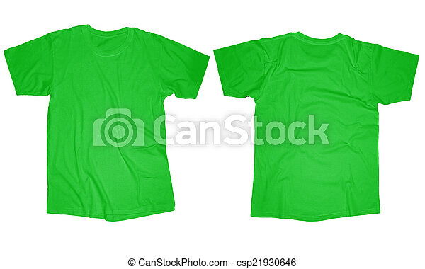 e7961cdec Light green t-shirt template. Wrinkled blank light green t-shirt ...