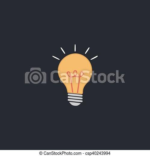 Light lamp computer symbol - csp40243994