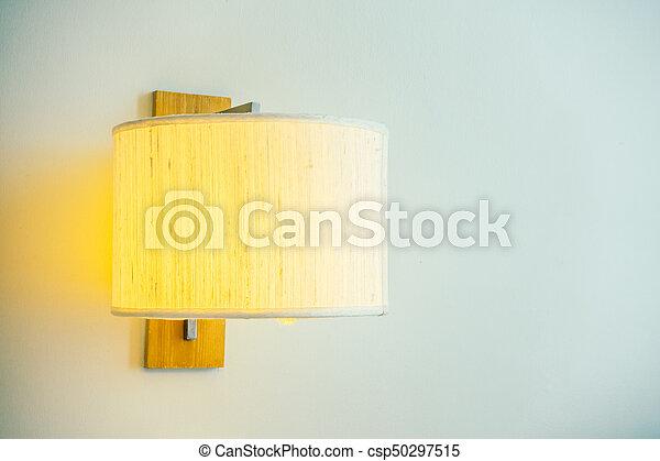 Light lamp on wall - csp50297515