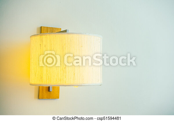 Light lamp on wall - csp51594481