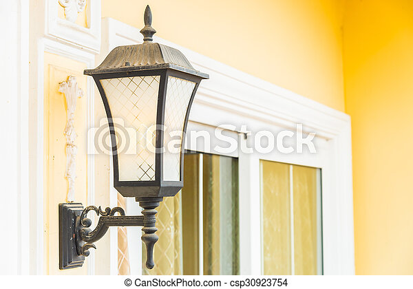 Light lamp on wall - csp30923754