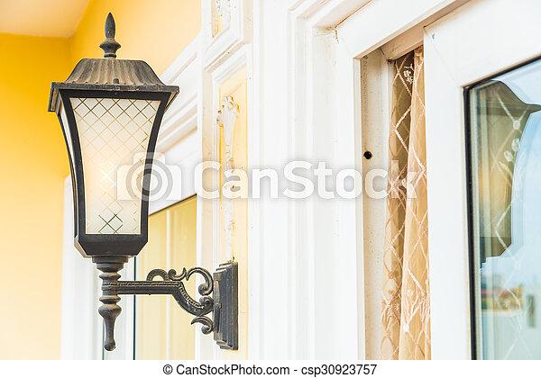 Light lamp on wall - csp30923757