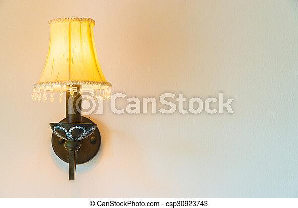 Light lamp on wall - csp30923743