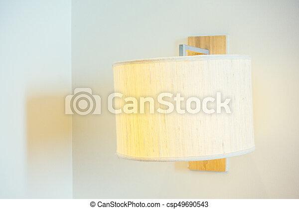 Light lamp on wall - csp49690543