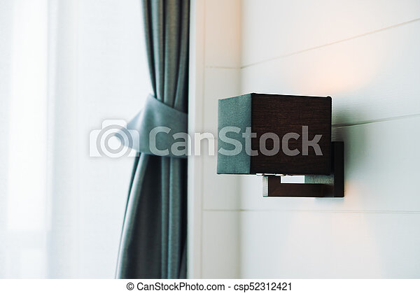 light lamp on wall - csp52312421
