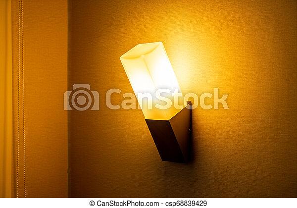 light lamp on wall - csp68839429