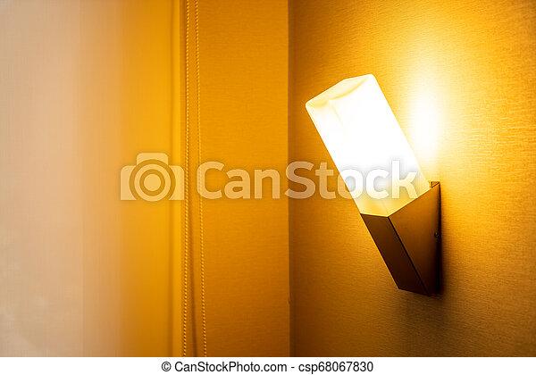 light lamp on wall - csp68067830