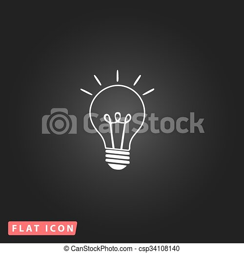 Light lamp sign icon. Idea symbol. - csp34108140